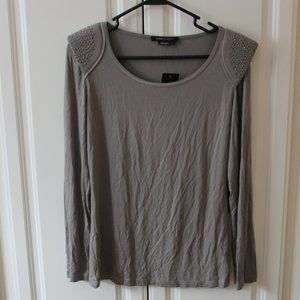 NWT BCBGMaxAzria Gray Tunic with shoulder accents